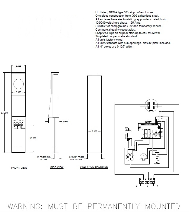 Rv Pedestal Wiring Diagram from www.rvparksupplies.com