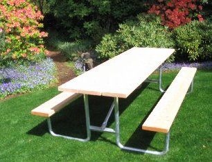 Commercial Outdoor Picnic Table Frame Kit Ft Galvanized Frame - Picnic table bracket kit