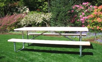 Commercial Outdoor Picnic Table Frame Kit Ft Galvanized Frame - Tubular picnic table frame