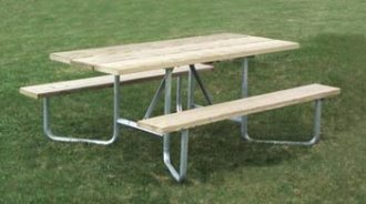 6 ft ada commercial picnic table universal access galvanized frame kit - Commercial Picnic Tables