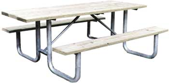 Heavy Duty Commercial Outdoor Park Picnic Table Frame Kit RV - Heavy duty picnic table frames